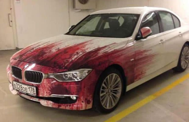 This Is Either A Murderer S Bmw Or An Insanely Graphic