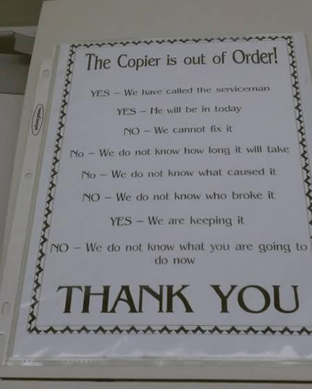 This Copier Is Out Of Order 25 Hilarious Out Of Order