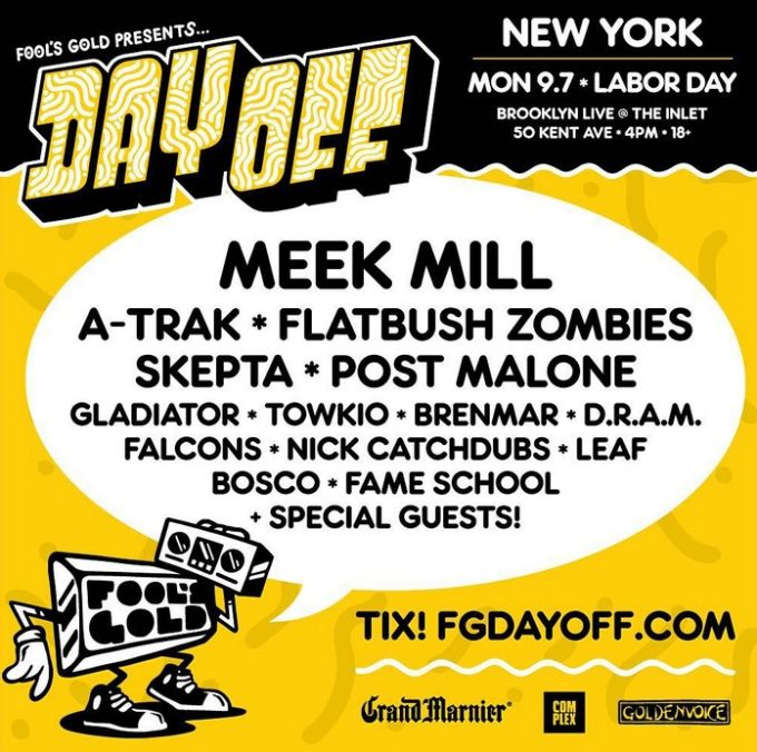 Meek Mill, Earl Sweatshirt & Action Bronson Are Headlining Fool's Gold's Day Off Concerts