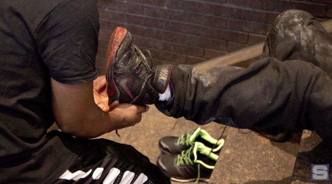 Meet the Man Who's Lacing NYC's Homeless Community With Sneakers