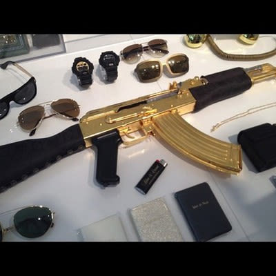 versace gold plated ak 47 the most gold items you can buy complex
