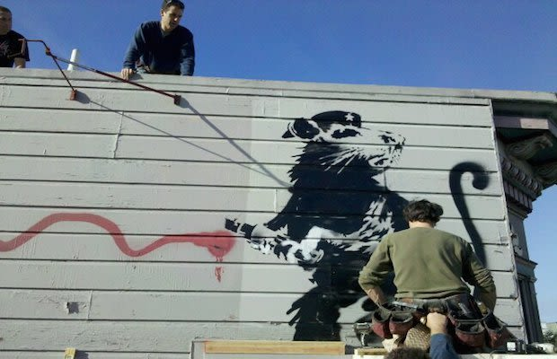 A kickstarter project aims to save the banksy rat mural for Banksy rat mural