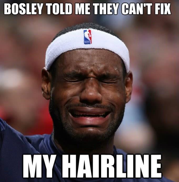 lebron james hairline meme - photo #1