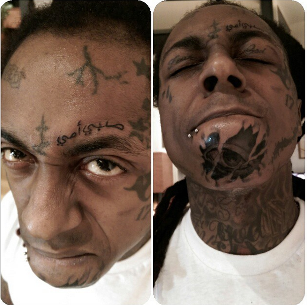 Lil wayne got 2 new face tattoos this weekend complex ca