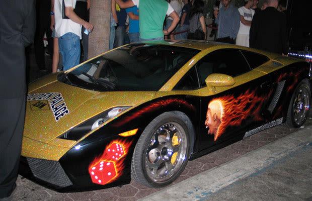Tbt Dennis Rodman S Gold Sparkle Lamborghini With