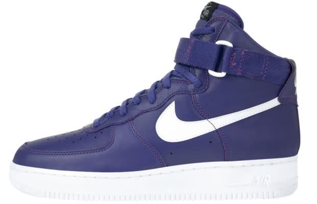 Nike Air Force 1 25th High Womens Running Shoe Chap Purple Black .