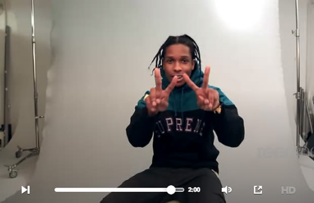 A Ap Rocky Rocks Out With His Braids Out In His Latest