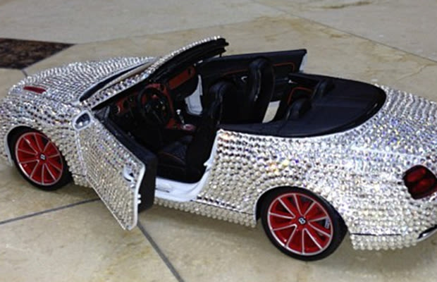 the game put 100 000 worth of diamonds on his son 39 s remote control bentley complex. Black Bedroom Furniture Sets. Home Design Ideas