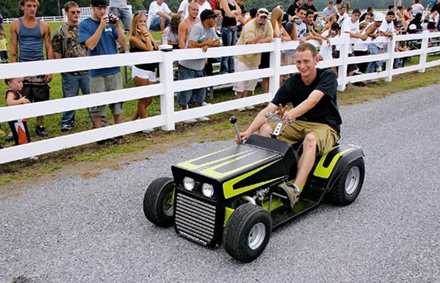 The Amish Mower The Most Ridiculous Custom Lawn Mowers