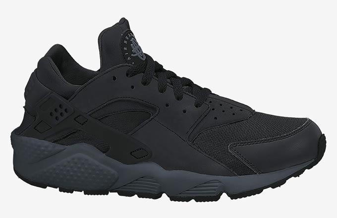 nike huarache black black grey