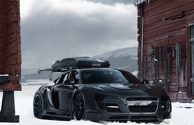 freeskier jon olsson reveals blacked out carbon fiber audi. Black Bedroom Furniture Sets. Home Design Ideas
