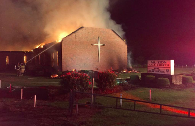 Another Fire Breaks Out at Traditionally Black Church in South Carolina