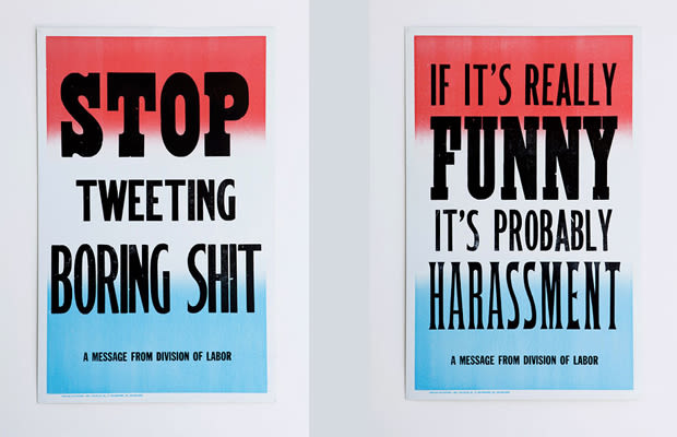 Dope Series Of Office Etiquette Posters | Complex