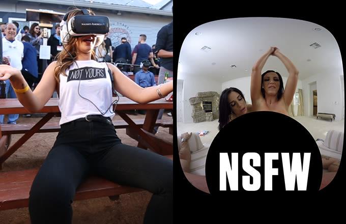 Virtual Reality Porn With Nikki Benz, Kimber Lee & Naughty America at SXSW
