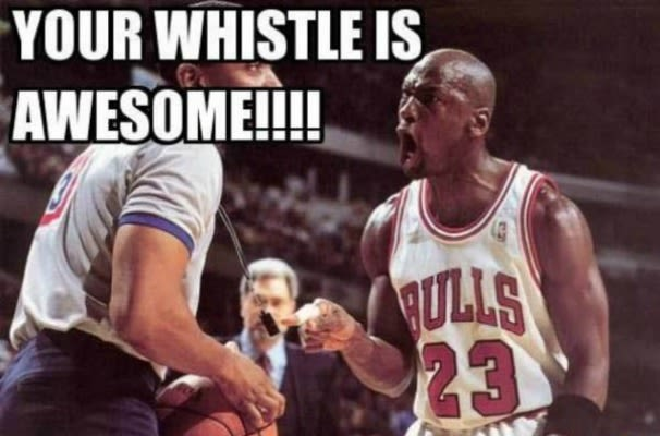 Funny Pictures Of Nba Players With Quotes: Awesome Whistle - 23 Funny Michael Jordan Memes