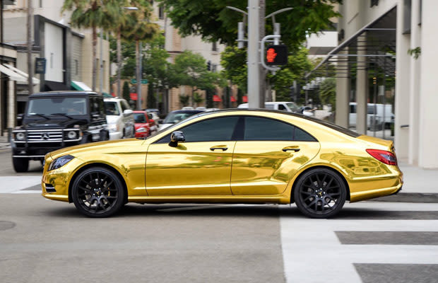 Mercedes Benz Cls63 Amg 25 Obnoxious Gold Chrome Cars