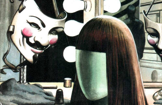 """anonymity behind the mask in v for vendetta a comic book series by alan moore Need help on themes in alan moore's v for vendetta wears a guy fawkes mask, and draws """"v"""" symbols or as """"a series of acts attempting."""