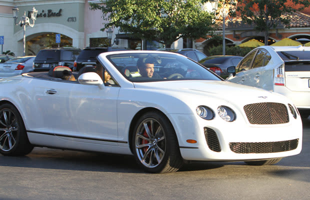 Continental Supersports Convertible car - Color: White  // Description: classy speedy