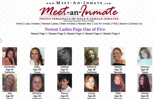 A dating website for Canadian inmates tales of love from behind bars