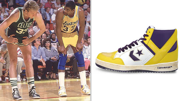 Magic Johnson Los Angeles Lakers Converse Weapon