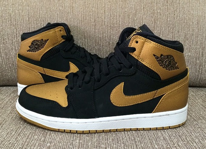 air jordans black and gold