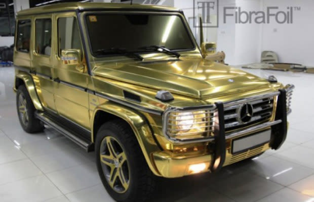 Mercedes Benz G Class 25 Obnoxious Gold Chrome Cars