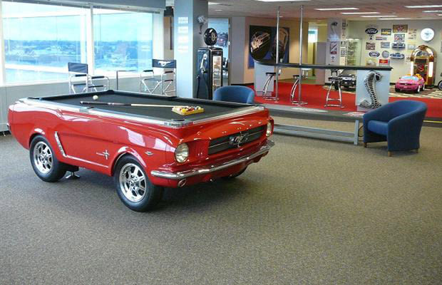 Pool table 25 inventive examples of furniture made from for Furniture made from cars