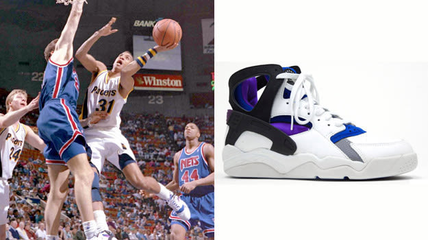 Reggie Miller in Nike Air Flight Huarache