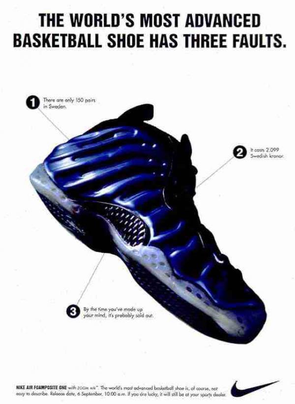 Dagens Sko lektion : Nike Air Foamposite – The Definitive