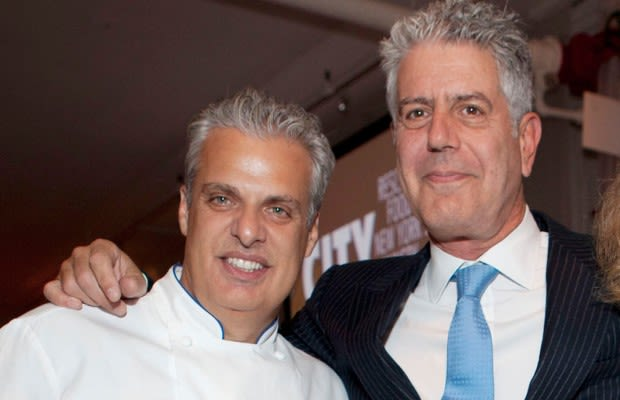 Photo of Anthony Bourdain & his friend chef  Eric Ripert -