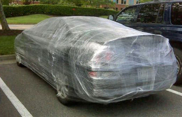 Plastic Wrap Car >> Saran Wrap - 10 Harmless, But Awesome, Car Pranks | Complex