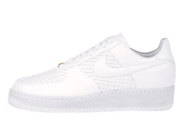 ... Nike Air Force 1 25th Low Mens Running Shoe Suede Black Lemon ...