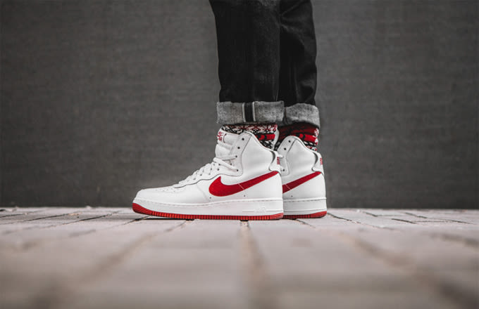 nike air force 1 high on feet