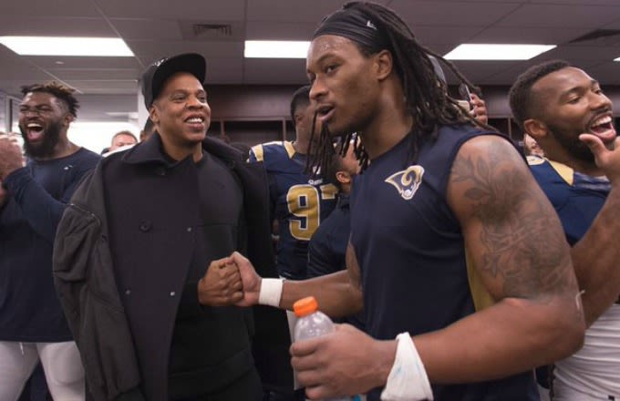 Rams Player Todd Gurley Wins $100 From a TMZ Cameraman by Naming Three Jay Z Albums news