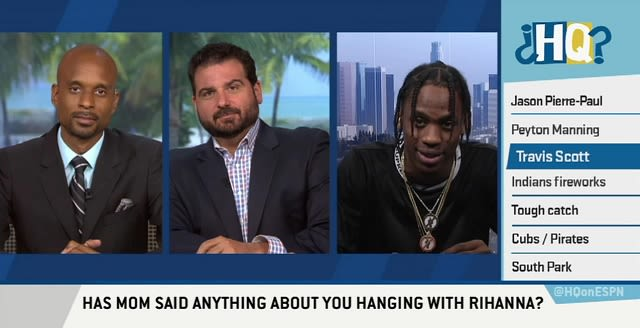 Watch Travi$ Scott Awkwardly Avoid Rihanna Questions On 'Highly Questionable'