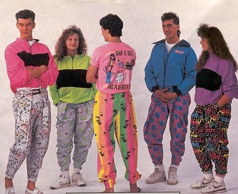 80s style clothing store