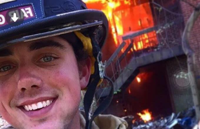 tinder firefighter u0026 39 s fire profile photo goes viral