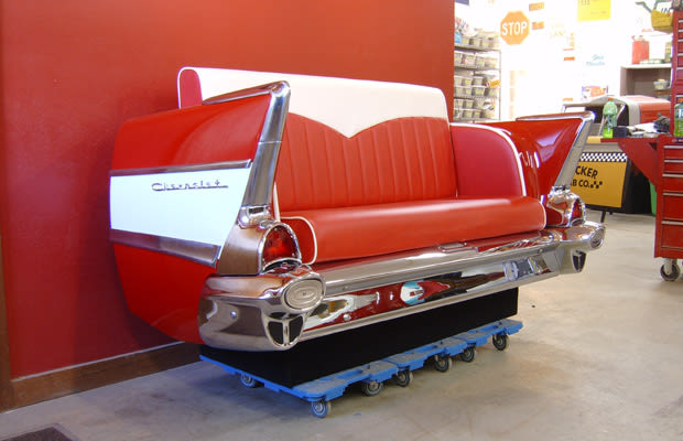 Couch 25 inventive examples of furniture made from car Custom furniture made car parts