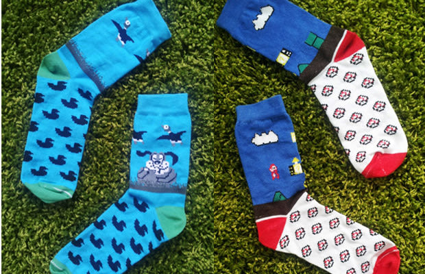 Video Game Socks Revive Classic Video Game