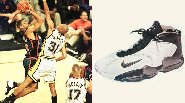 Alan Houston in the Nike Air Vis Zoom Utempo