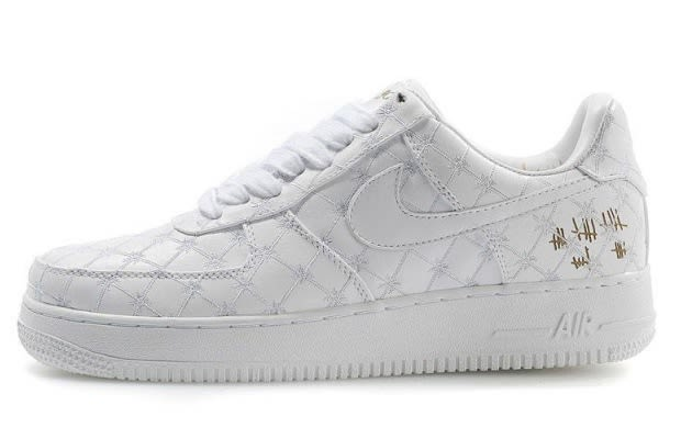 ... Nike Air Force 1 25th Low Mens Running Shoe Snakeskin Silver Grey ...