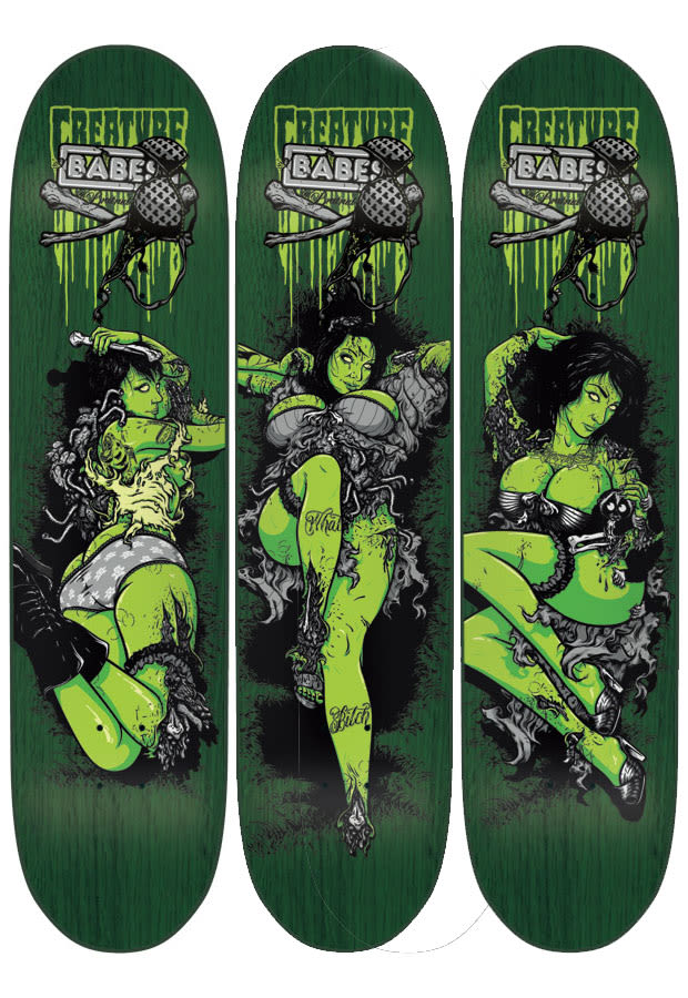 On Deck Todd Bratrud Brings Babes To Creature Skateboards