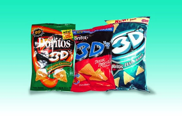 3D Doritos - 25 Junk Foods We Wish Still Existed | Complex 3d Doritos