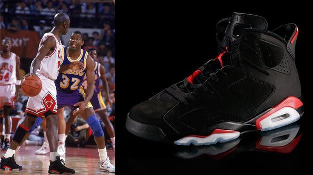 Michael Jordan in the Air Jordan VI