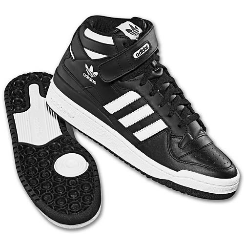 Adidas Forum Mid - Chaussures De Tennis 2012 10 Adidas Originals Forum Mid Noirblanc Usine