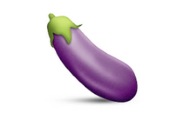 eggplant emoticon - photo #1