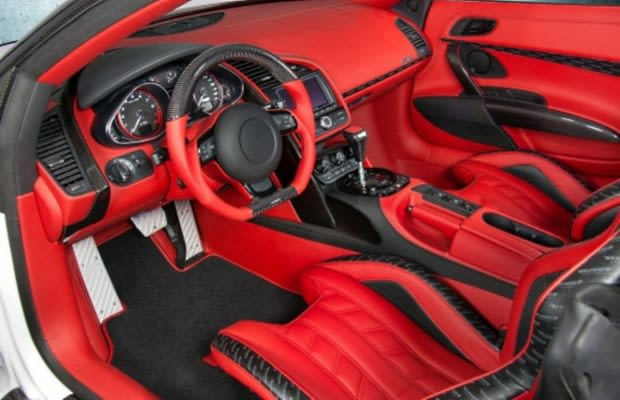 audi r8 v10 spyder the 50 most outrageous custom car interiors complex. Black Bedroom Furniture Sets. Home Design Ideas