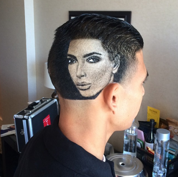 This Guy Got Kim Kardashian S Face Shaved Into His Head