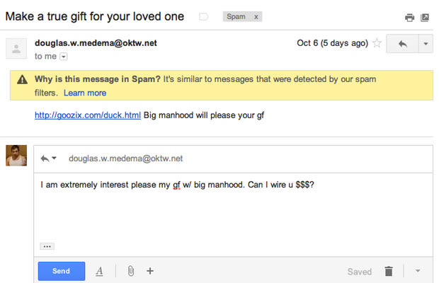 how to get rid of spam emails on gmail