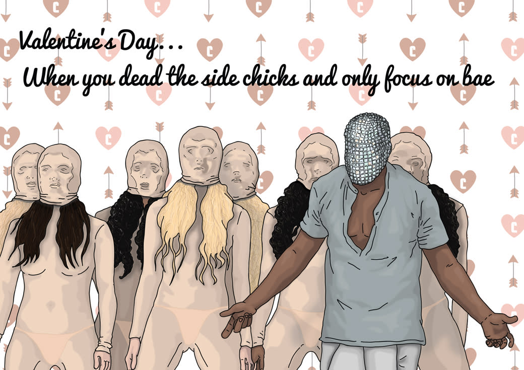 These Kanye WestThemed Valentines Day Cards Are Priceless Next – Kanye Valentine Card
